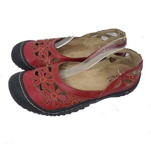 JBU Jambu Womens Shoes 8.5M Red Mary Jane's